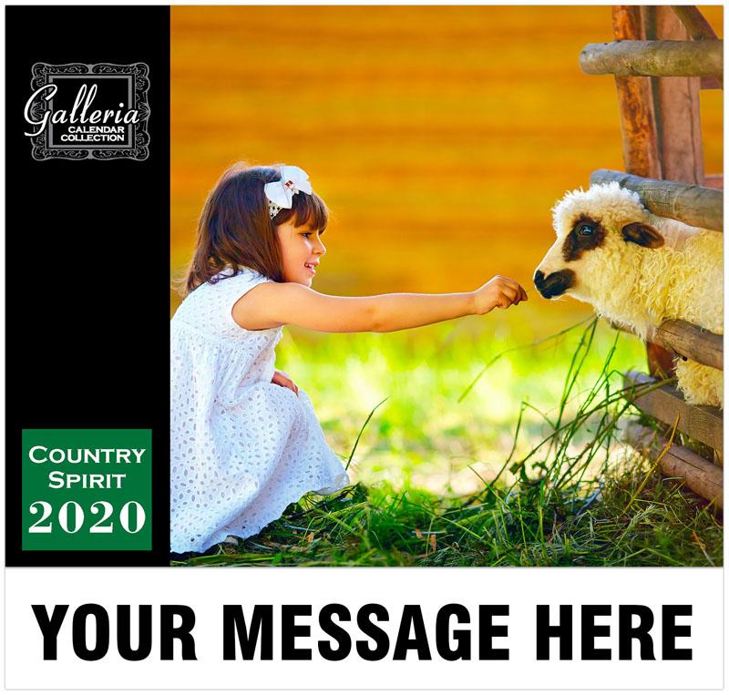 Country Spirit Wall Calendar