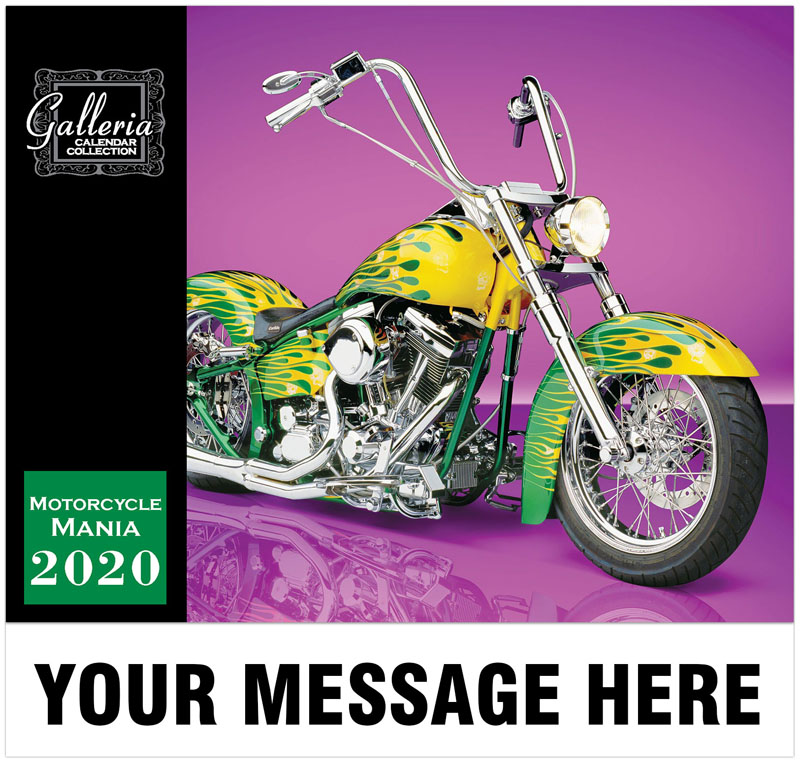 Motorcycle Mania Wall Calendar