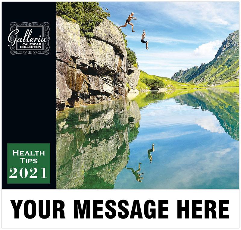 Health Tips Wall Calendar