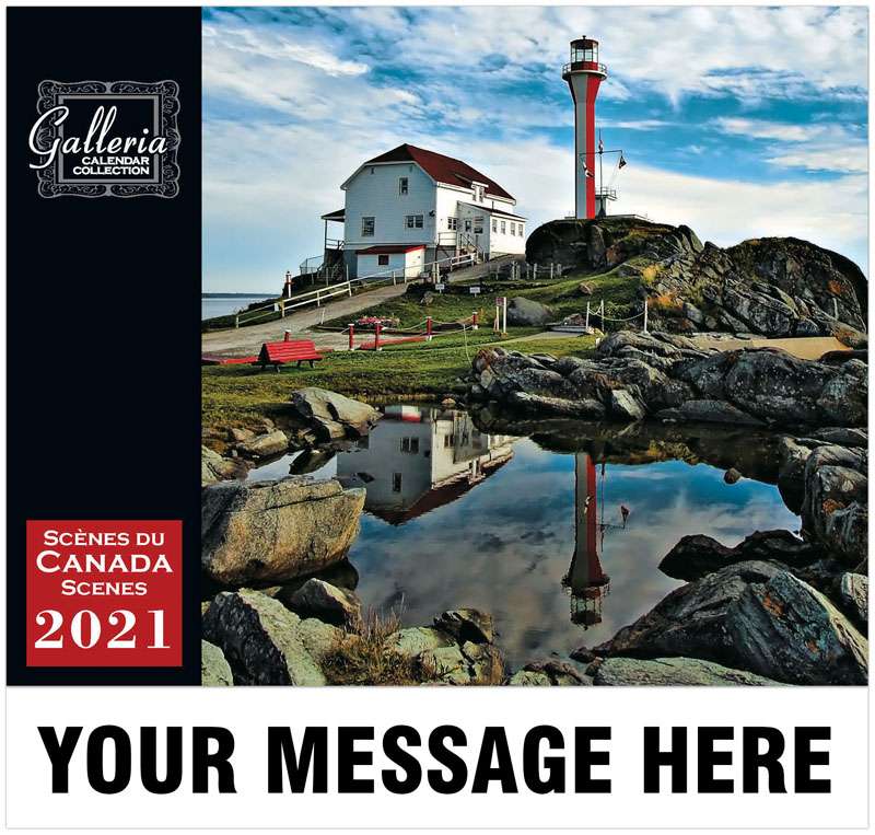 Canadian Scenes (English/French) Wall Calendar